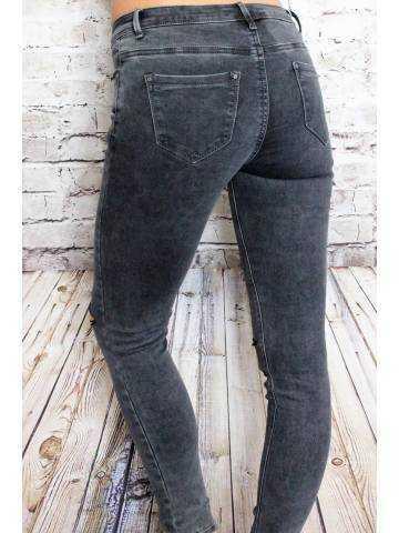 Pantalon gris foncé skinny