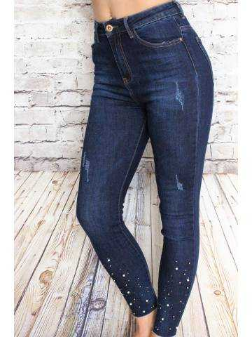"""Mon jeans """"brut et perles"""""""