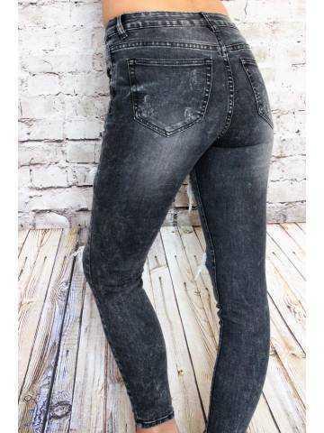 Jeans gris foncé délavé