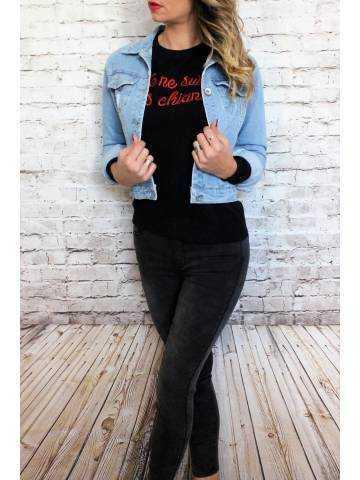 Ma veste en jeans clair