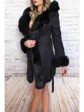 Ma veste mi-longue  noire