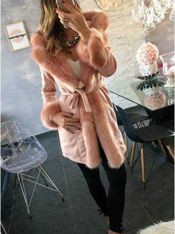 "Ma veste mi-longue  pink ""so chic"" 2"