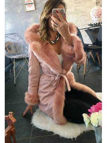 Ma veste mi-longue  pink
