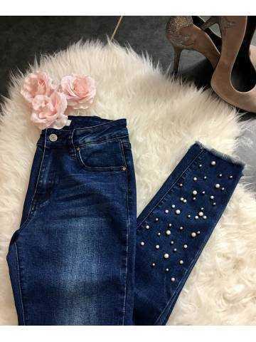 """Mon jeans """"foncé et perles"""""""
