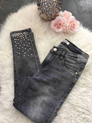"""Mon jeans gris clair """" poches bijoux"""""""