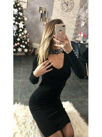 "Ma jolie robe noire ""choker et perles"" 2"
