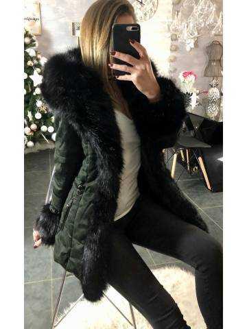 Ma veste mi-longue black/army