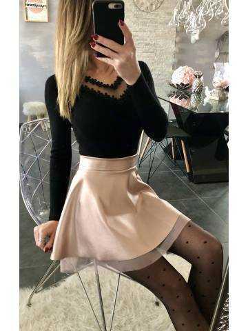 Ma petite jupe rose métallisé