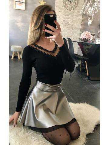 Ma petite jupe gris métallisé