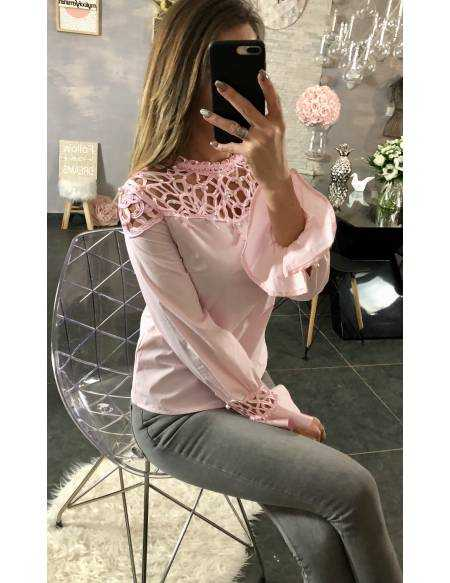 Ma blouse rose pâle