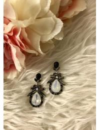 """Mes boucles d'oreilles """"black diamond"""" new"""