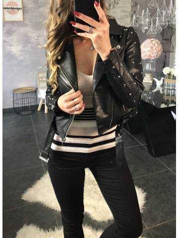 Perfecto noir style cuir