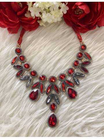 """Collier princesse """"so red"""""""