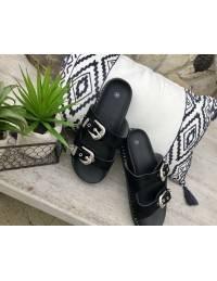 mes jolies sandales noires à brides