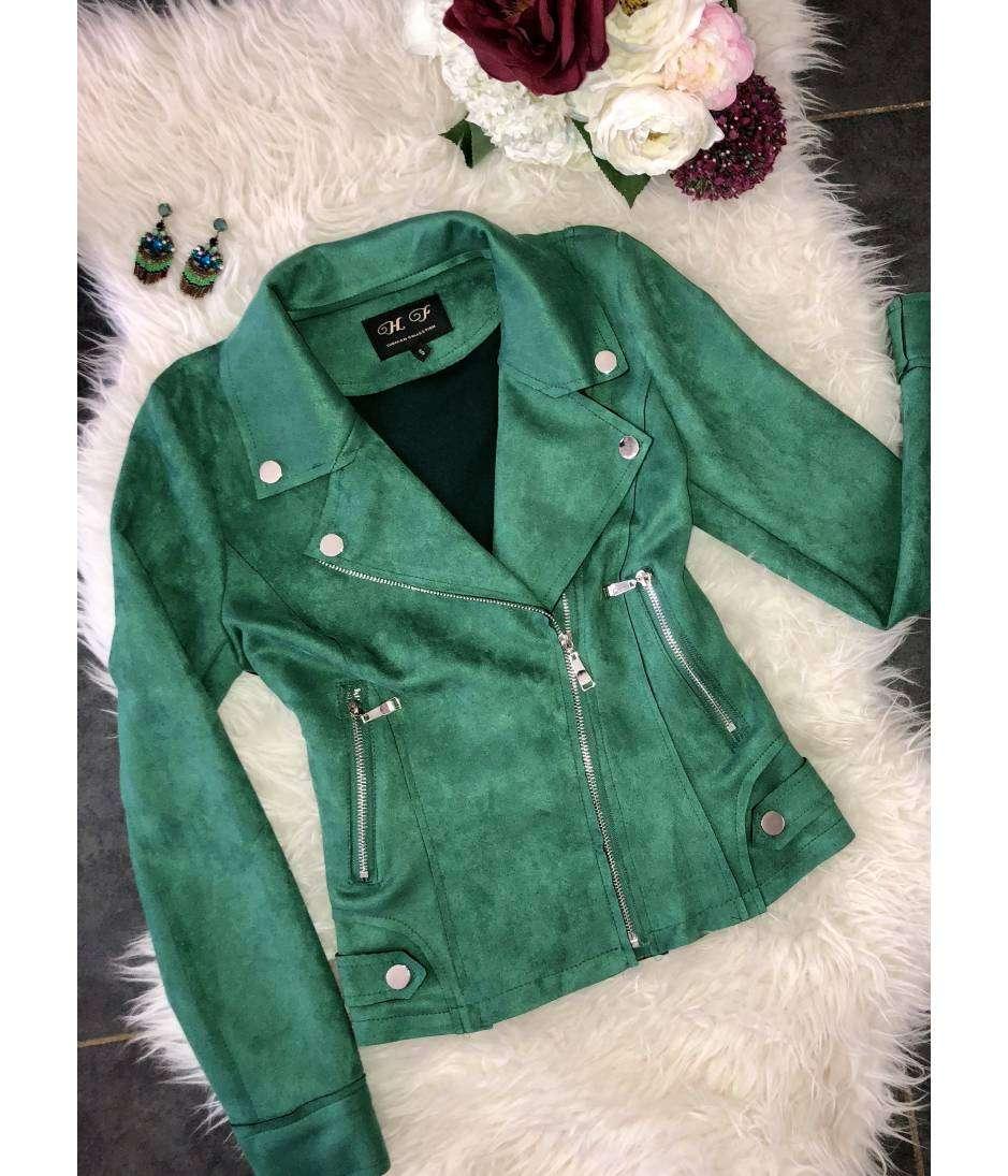 "Perfecto green ""style daim"""