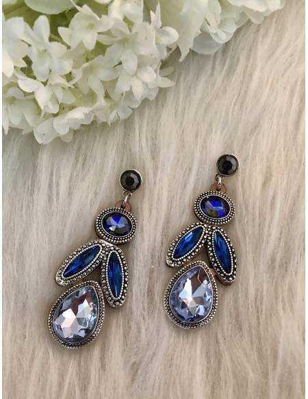 """Mes jolies boucles d'oreilles """"blue diamond"""""""