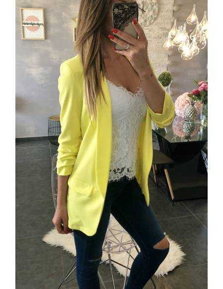 "Blazer loose ""yellows So chic"""
