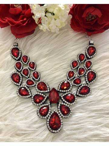 "Collier princesse ""so red"""