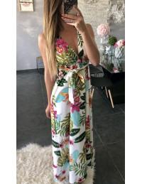 """Ma jolie robe longue fleurie """"dos nu"""""""
