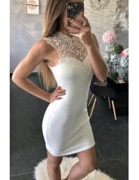 "Ma jolie robe blanche ""plastron en Dentelle"""