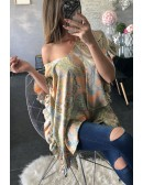 """Ma blouse ample en voilage """"bleu lagon"""""""
