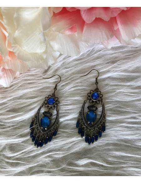 """Mes jolies boucles d'oreilles """"so blue"""""""