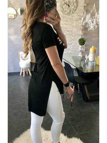 Tee-shirt long noir