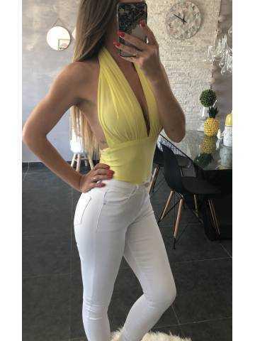 "mon superbe body jaune ""dos nu"""