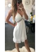 "Ma superbe petite robe blanche ""dos dentelle"""