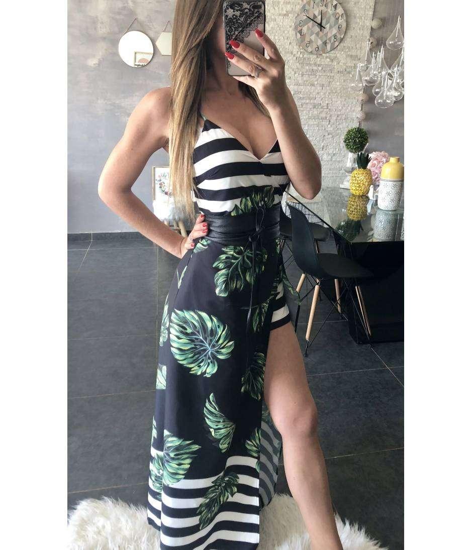 """Ma superbe robe longue et imprimée """"fendue"""""""