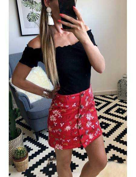 Ma petite jupe rouge fleurie