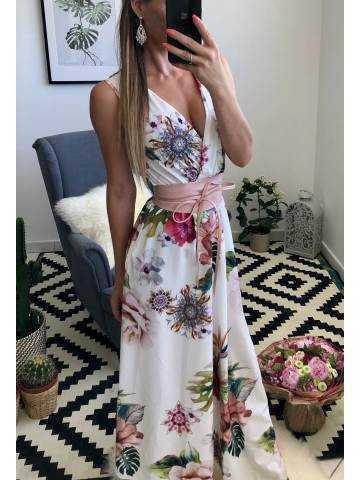 "Ma robe mi-longue noire jolies roses ""cache coeur"" 3"