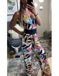 "Combi-pantalon joli imprimé ""et sa ceinture"""