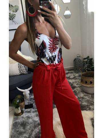 "Pantalon large ""So red"""