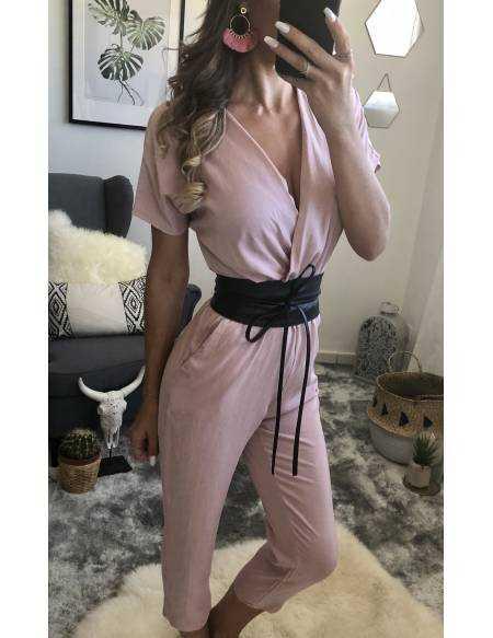 Combi-pantalon rose pâle