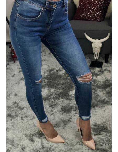 """Mon Jeans medium """"genoux déchirés"""