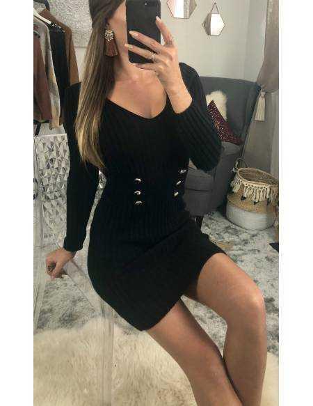 Ma robe pull en maille black