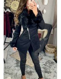 "Mon manteau so chic court ""black"""