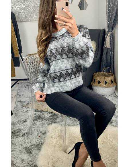 Mon superbe pull gris silver