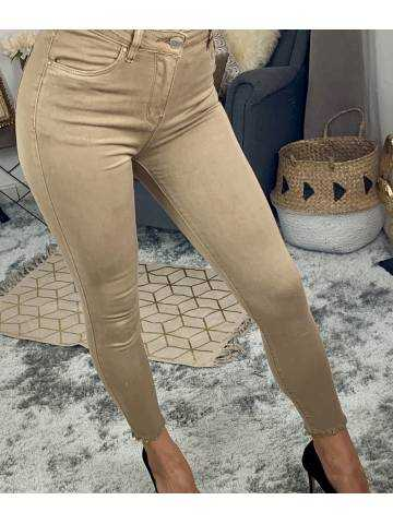 "Mon jeans taupe ""basic slim"""