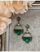 "Mes boucles d'oreilles ""green diamond"""