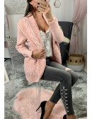 "Gilet en maille, rose pâle ""so chic"""