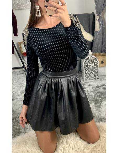 Ma jupe black style cuir