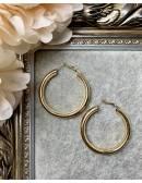 """Mes boucles d'oreilles créoles """"métal gold"""""""