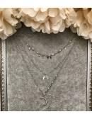 "Mon collier court argent ""multi chaines"" 2"