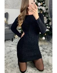 "Ma jolie robe en maille noire ""basic tresses"""