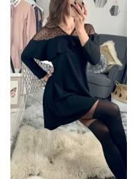 """Ma robe ample noire """"plumetis et volant"""""""