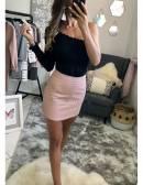 Ma jupe rose style cuir et clous