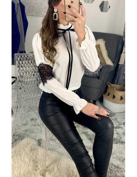 Ma jolie blouse blanche et dentelle noire