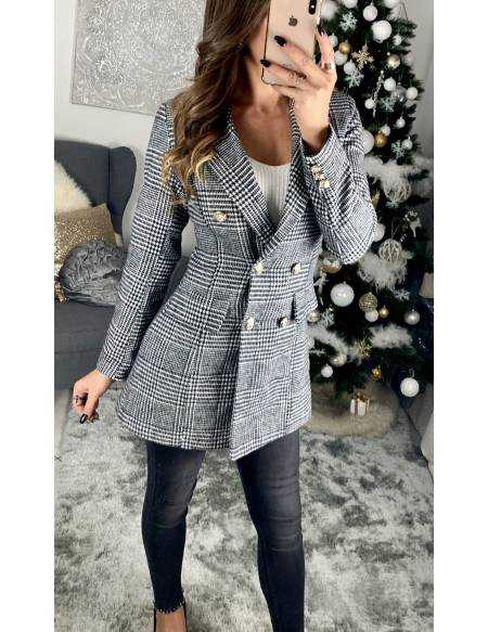 Mon blazer long en lainage gris